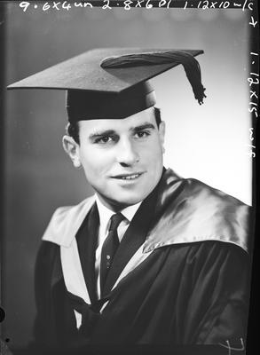 Film negative: Mr Garrod, graduate