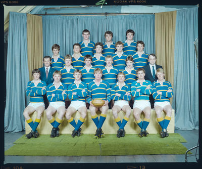 Negative: Lincoln College Under 19A Rugby 1984