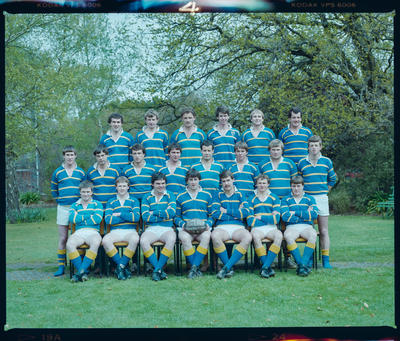 Negative: Lincoln College Penetrators 3A Rugby Team 1984