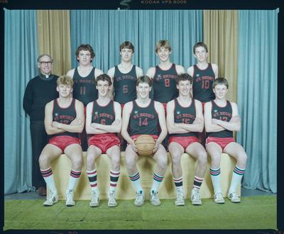 Negative: St Bede's Basketball Team 1984