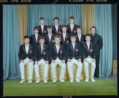 Negative: St Bede's 1st XI Cricket 1984