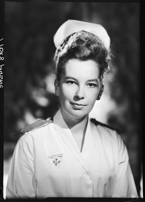 Film negative: Miss Flitcroft, nurse