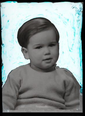 Film negative: Mr McAuliffe, small boy