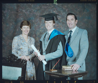 Negative: Mr A. Pointon Graduate and Unnamed Man and Woman