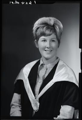 Film negative: Miss A Seymour, graduate