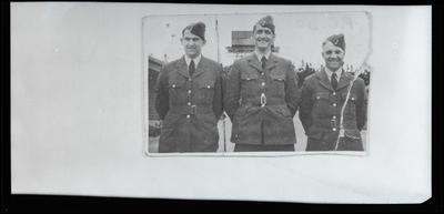Film negative: Mr J Locke, three soldiers