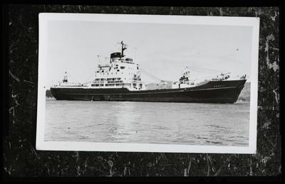"Film negative: Mr Laidlaw, ship ""Karetu"" in Cass Bay"