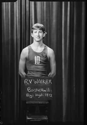 Film negative: Christchurch Boys High: basketball 'A' team, Master R V Walker