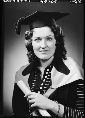 Film negative: Miss S L McKenzie, graduate