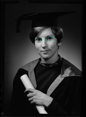 Film negative: Miss Meates, graduate