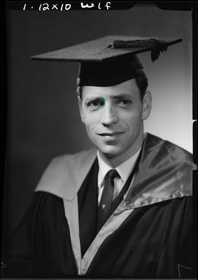 Film negative: Mr Rhodes, graduate