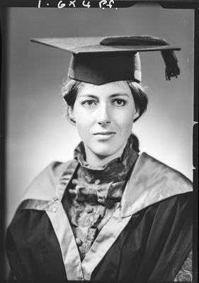 Film negative: Miss J Wright, graduate