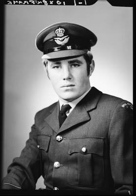 Film negative: Mr Davidson, Royal New Zealand Air Force Officers mess