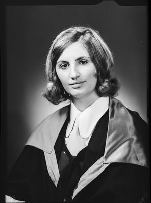Film negative: Miss K F Shears, graduate