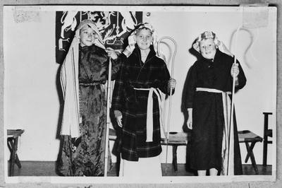 Film negative: Mr Paul Scott, Victory School Reunion nativity play
