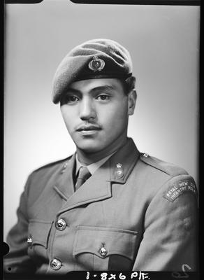 Film negative: Mr V R Amopiu, Royal New Zealand Infantry Regiment