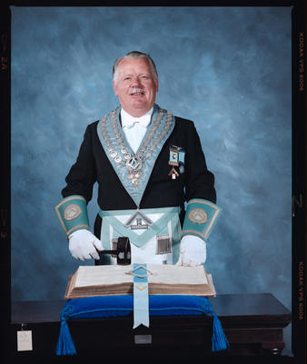 Negative: Gordon Munro Freemason Portrait