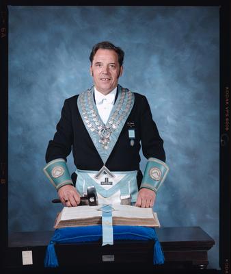 Negative: Bill Hunter Freemason Portrait