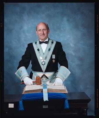 Negative: Mr Macklan Freemason Portrait