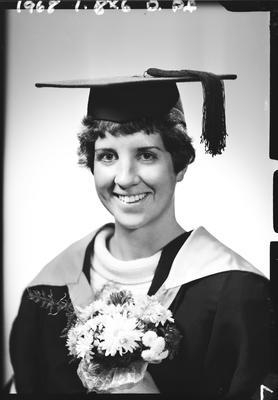Film negative: Miss Timms, graduate