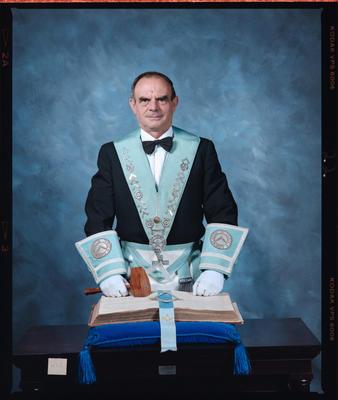 Negative: Mr Baker Freemason Portrait