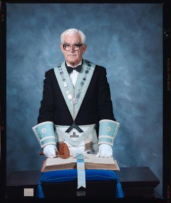 Negative: Mr Stemmer Freemason Portrait