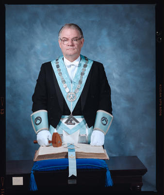 Negative: Mr White Freemason Portrait