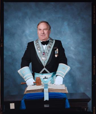 Negative: David Aberry Freemason Portrait