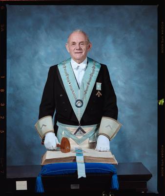 Negative: Mr Cook Freemason Portrait