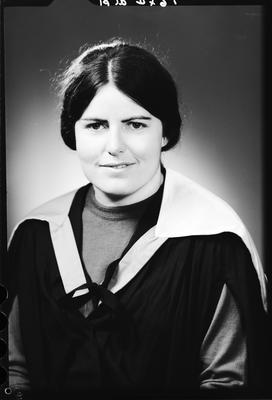 Film negative: Miss C Scott, graduate