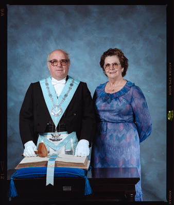 Negative: Mr Ashton Freemason and Woman Portrait