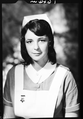 Film negative: Miss Davies, nurse