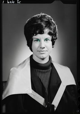 Film negative: Miss J Dore, graduate