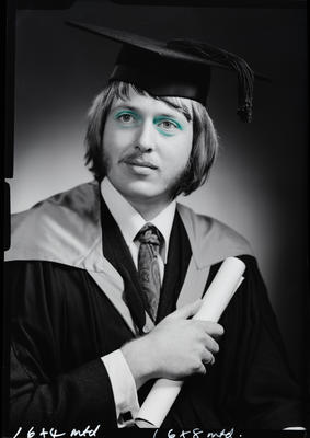 Film negative: Mr P C Taylor, graduate
