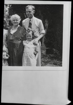 Film negative: Mrs R Walsh, group of three