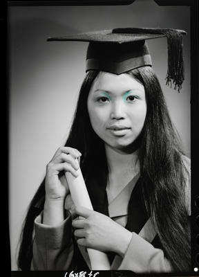 Film negative: Miss Yee, graduate