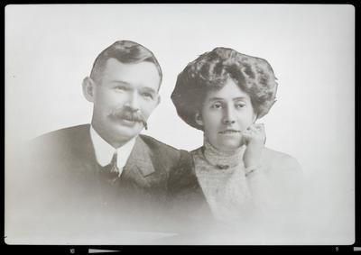 Film negative: Mrs Brosnaham, couple