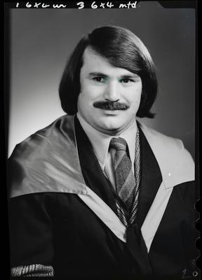 Film negative: Mr W T Andrew, graduate