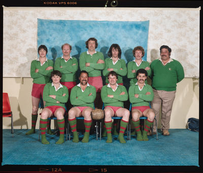 Negative: Chatham's Bob Page's Rugby Team 1984
