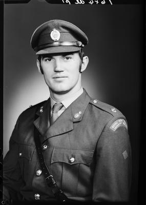 Film negative: Mr M A Hughes, Infantry