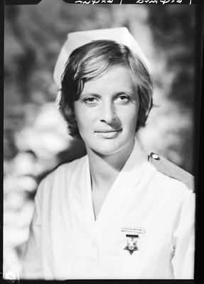 Film negative: Mrs M McPhail, nurse