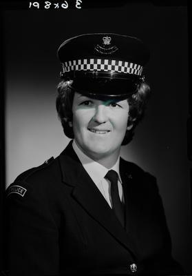Film negative: Miss Torrance, police officer