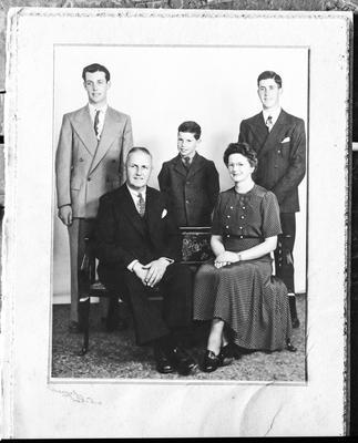 Film negative: Mr Yvonne, family of five