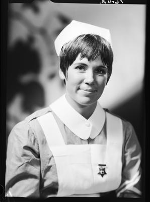 Film negative: Mrs Nethey, nurse