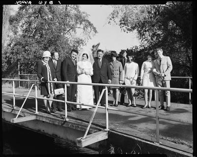 Film negative: Ngakuru and O'Brien wedding, party of ten