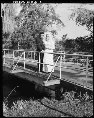 Film negative: Ngakuru and O'Brien wedding, bride and groom
