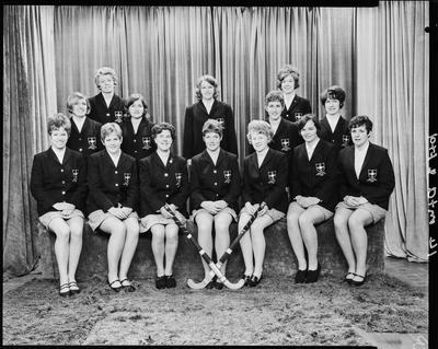 Film negative: Women's Hockey Team, New Zealand Union