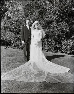 Film negative: Neal wedding, bride and groom