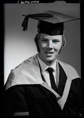 Film negative: Mr N F Paris, graduate