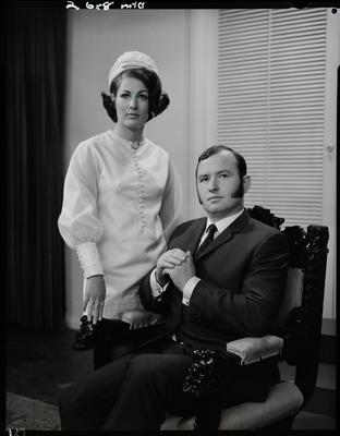 Film negative: Mr and Mrs Pope